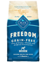 Blue Buffalo Blue Freedom Dry Dog Food Senior Recipe, Chicken, 24 lbs