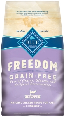 Blue Buffalo Blue Freedom Dry Indoor Cat Food, Chicken, 5 lbs
