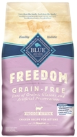 Blue Buffalo Blue Freedom Dry Indoor Cat Food Kitten Recipe, Chicken, 2 lbs