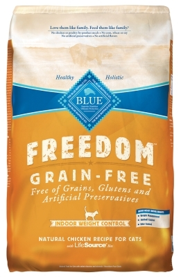 Blue Buffalo Blue Freedom Dry Indoor Cat Food Weight Control Recipe, Chicken, 11 lbs