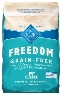 Blue Buffalo Blue Freedom Dry Indoor Cat Food, Whitefish, 5 lbs