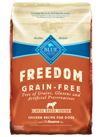Blue Buffalo Blue Freedom Dry Large Breed Dog Food Senior Recipe, Chicken, 24 lbs