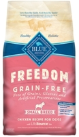 Blue Buffalo Blue Freedom Dry Small Breed Dog Food, Chicken, 4 lbs