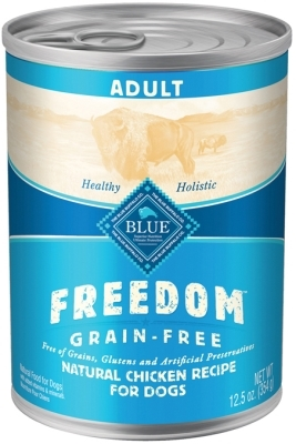 Blue Buffalo Blue Freedom Wet Dog Food, Chicken, 12.5 oz, 12 Pack