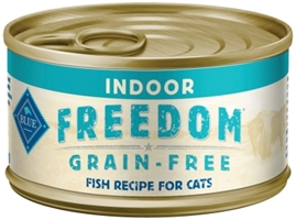 Blue Buffalo Blue Freedom Wet Indoor Cat Food, Fish, 3 oz, 24 Pack