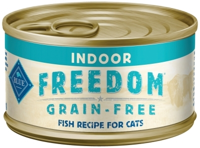 Blue Buffalo Blue Freedom Wet Indoor Cat Food, Fish, 5.5 oz, 24 Pack