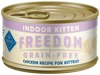 Blue Buffalo Blue Freedom Wet Indoor Cat Food Kitten Recipe, Chicken, 3 oz, 24 Pack