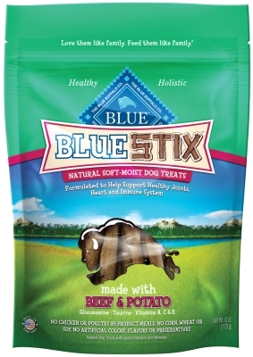 Blue Buffalo Blue Stix Natural Dog Treats, Beef & Potato, 6 oz