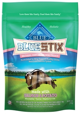 Blue Buffalo Blue Stix Natural Dog Treats, Salmon & Potato, 6 oz