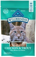 Blue Buffalo BLUE Wilderness Cat Treats, Chicken & Trout, 2 oz