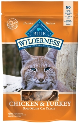 Blue Buffalo BLUE Wilderness Cat Treats, Chicken & Turkey, 2 oz