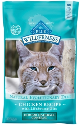 Blue Buffalo BLUE Wilderness Dry Cat Food Hairball Control Formula, Chicken, 11 lbs