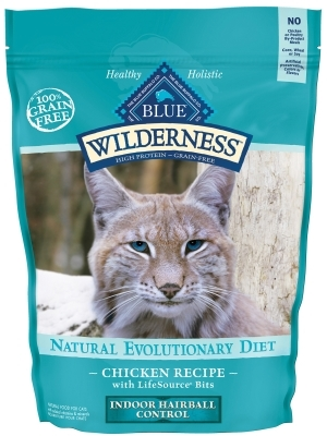 Blue Buffalo BLUE Wilderness Dry Cat Food Hairball Control Formula, Chicken, 5 lbs