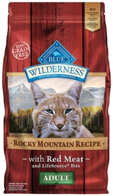 Blue Buffalo BLUE Wilderness Dry Cat Food Rocky Mountain Recipe, Red Meat, 10 lbs