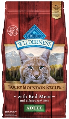Blue Buffalo BLUE Wilderness Dry Cat Food Rocky Mountain Recipe, Red Meat, 4 lbs
