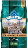 Blue Buffalo BLUE Wilderness Dry Cat Food Rocky Mountain Recipe, Trout, 10 lbs