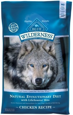 Blue Buffalo BLUE Wilderness Dry Dog Food, Chicken, 24 lbs