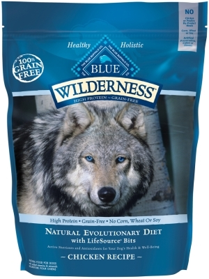 Blue Buffalo BLUE Wilderness Dry Dog Food, Chicken, 4.5 lbs