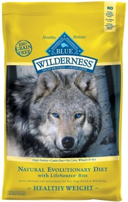 Blue Buffalo BLUE Wilderness Dry Dog Food Healthy Weight Recipe, Chicken, 24 lbs