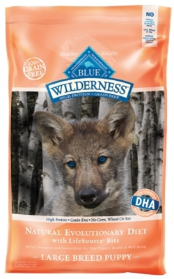 Blue Buffalo BLUE Wilderness Dry Dog Food Large Breed Puppy Recipe, Chicken, 24 lbs