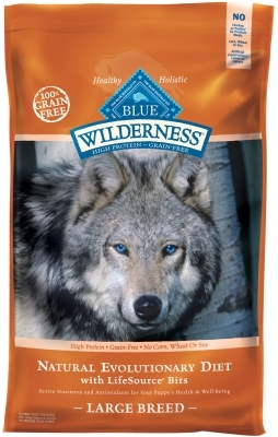 Blue Buffalo BLUE Wilderness Dry Dog Food Large Breed Recipe, Chicken, 24 lbs