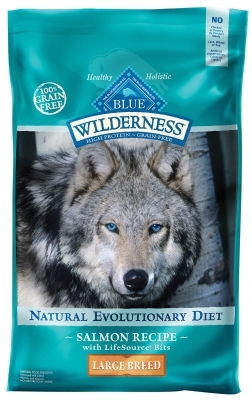 Blue Buffalo BLUE Wilderness Dry Dog Food Large Breed Recipe, Salmon, 24 lbs