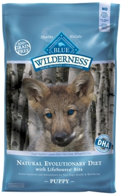 Blue Buffalo BLUE Wilderness Dry Dog Food Puppy Recipe, Chicken, 24 lbs