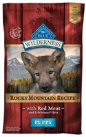 Blue Buffalo BLUE Wilderness Dry Dog Food Rocky Mountain Puppy Recipe, Red Meat, 22 lbs