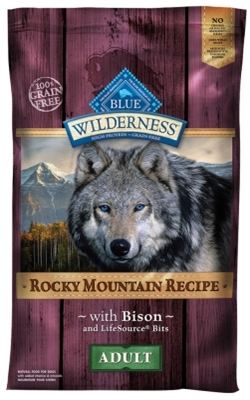 Blue Buffalo BLUE Wilderness Dry Dog Food Rocky Mountain Recipe, Bison, 22 lbs