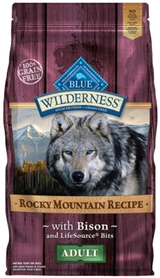 Blue Buffalo BLUE Wilderness Dry Dog Food Rocky Mountain Recipe, Bison, 4 lbs
