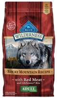 Blue Buffalo BLUE Wilderness Dry Dog Food Rocky Mountain Recipe, Red Meat, 4 lbs