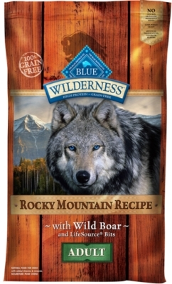 Blue Buffalo BLUE Wilderness Dry Dog Food Rocky Mountain Recipe, Wild Boar, 10 lbs