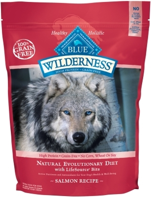 Blue Buffalo BLUE Wilderness Dry Dog Food, Salmon, 4.5 lbs