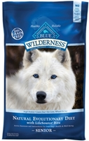 Blue Buffalo BLUE Wilderness Dry Dog Food Senior Recipe, Chicken, 24 lbs