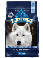 Blue Buffalo BLUE Wilderness Dry Dog Food Senior Recipe, Chicken, 4.5 lbs