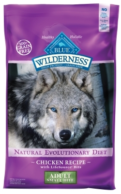 Blue Buffalo BLUE Wilderness Dry Dog Food Small Bite Recipe, Chicken, 24 lbs