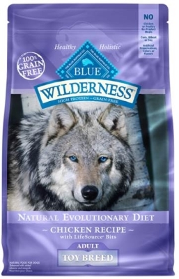 Blue Buffalo BLUE Wilderness Dry Dog Food Toy Breed Recipe, Chicken, 4 lbs