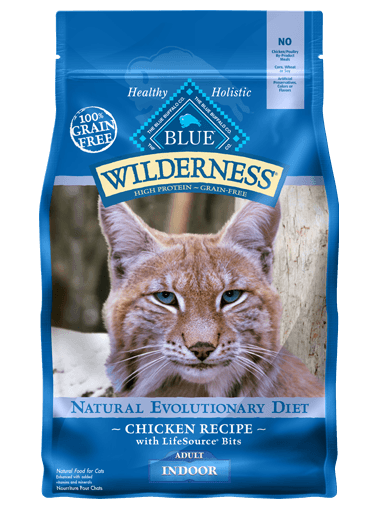 Blue Buffalo BLUE Wilderness Dry Indoor Cat Food, Chicken, 2.5 lbs
