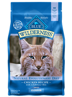 Blue Buffalo BLUE Wilderness Dry Indoor Cat Food, Chicken,5 lbs