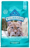 Blue Buffalo BLUE Wilderness Dry Indoor Cat Food Hairball Control, Chicken, 5 lbs