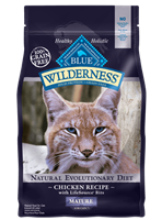 Blue Buffalo BLUE Wilderness Dry Mature Cat Food, Chicken,5 lbs