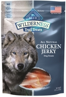 Blue Buffalo BLUE Wilderness Trail Dog Treats, Chicken Jerky, 3.25 oz