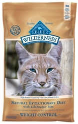 Blue Buffalo BLUE Wilderness Weight Control Dry Cat Food, Chicken & Rice, 5 lbs