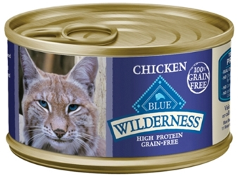 Blue Buffalo BLUE Wilderness Wet Cat Food, Chicken, 3 oz, 24 Pack