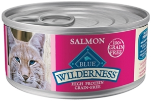 Blue Buffalo BLUE Wilderness Wet Cat Food, Salmon, 5.5 oz, 24 Pack