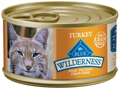 Blue Buffalo BLUE Wilderness Wet Cat Food, Turkey, 3 oz, 24 Pack