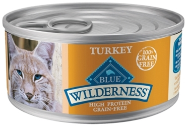 Blue Buffalo BLUE Wilderness Wet Cat Food, Turkey, 5.5 oz, 24 Pack