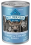Blue Buffalo BLUE Wilderness Wet Dog Food Puppy Recipe, Turkey & Chicken Grill, 12.5 oz, 12 Pack
