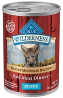 Blue Buffalo BLUE Wilderness Wet Dog Food Rocky Mountain Puppy Recipe, Red Meat, 12.5 oz, 12 Pack
