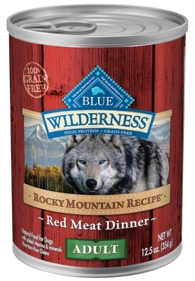 Blue Buffalo BLUE Wilderness Wet Dog Food Rocky Mountain Recipe, Red Meat, 12.5 oz, 12 Pack